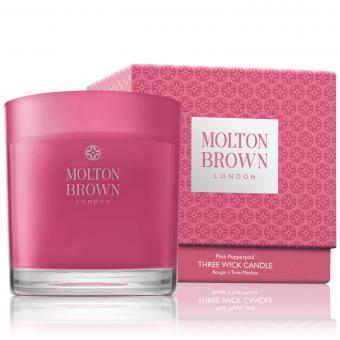 Molton Brown Bougie 3 Mèches Poivre Rose 10