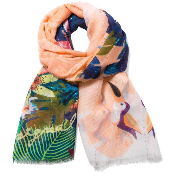 Foulard Rectangle TROPICAL FLY - Synthètique - Écharpes   bonnets ... bd7ba3d1bcd