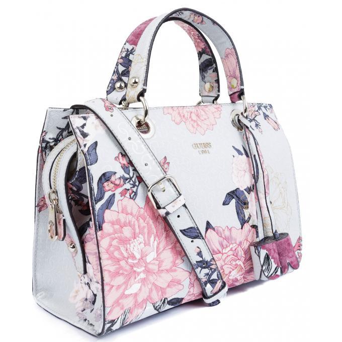 2eae5c75c8 Sac Cabas Seraphina Zippé - A Fleurs - Sac Cabas et Shopping Guess ...