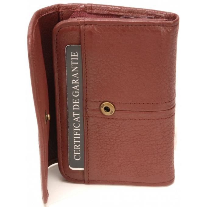 4a5ee16ef22 Arthur   Aston Porte-Cartes et Monnaie Cuir de Vachette - Doublure  Polyester Bordeaux 100000040