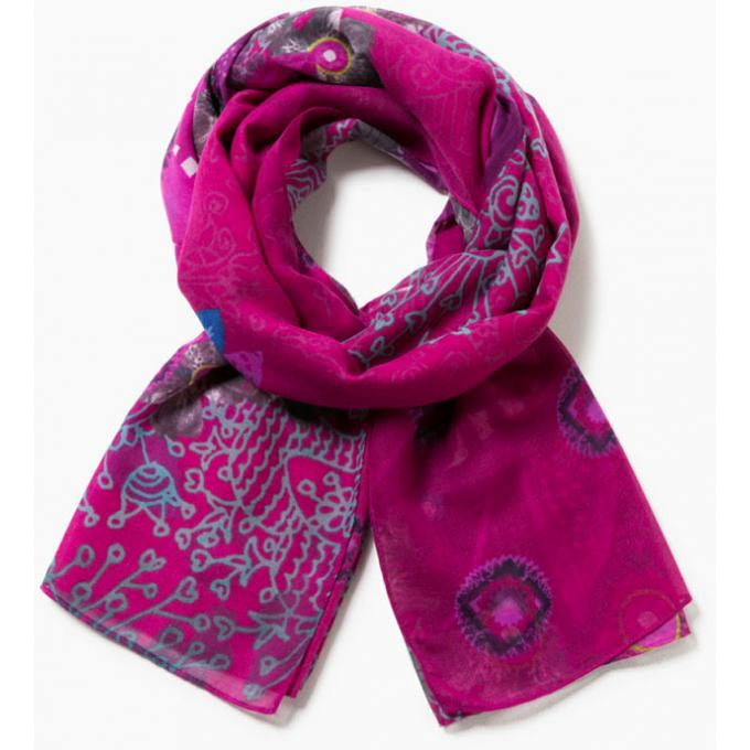 5957e7c1c429 Foulard BOLLYWOOD à Motifs - Rectangle - Écharpes   bonnets Desigual
