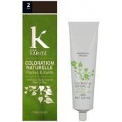 K pour Karite - COLORATION NATURELLE BRUN N°2 - Coloration Cheveux
