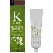 K pour Karite - COLORATION NATURELLE CHATAIN FONCÉ N°3 - Coloration Cheveux