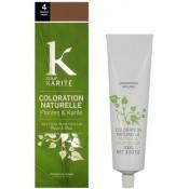 K pour Karite - COLORATION NATURELLE CHATAIN MOYEN N°4 - Coloration Cheveux