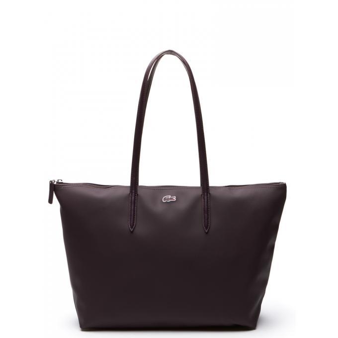 4edcc0838f Lacoste Grand Sac Shopping L.12.12 CONCEPT - Zippé Violet / Aubergine  102057260