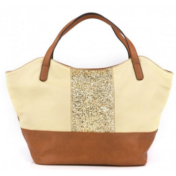 sac cabas buzz glitter et microfibre sac cabas et shopping mellow yellow. Black Bedroom Furniture Sets. Home Design Ideas