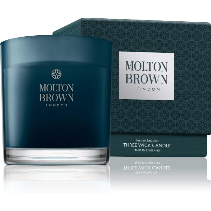 Molton Brown Bougie 3 Mèches Russian Leather - 480g 10