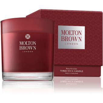 Bougie 3 Mèches Rosa Absolute - 480g - Molton Brown