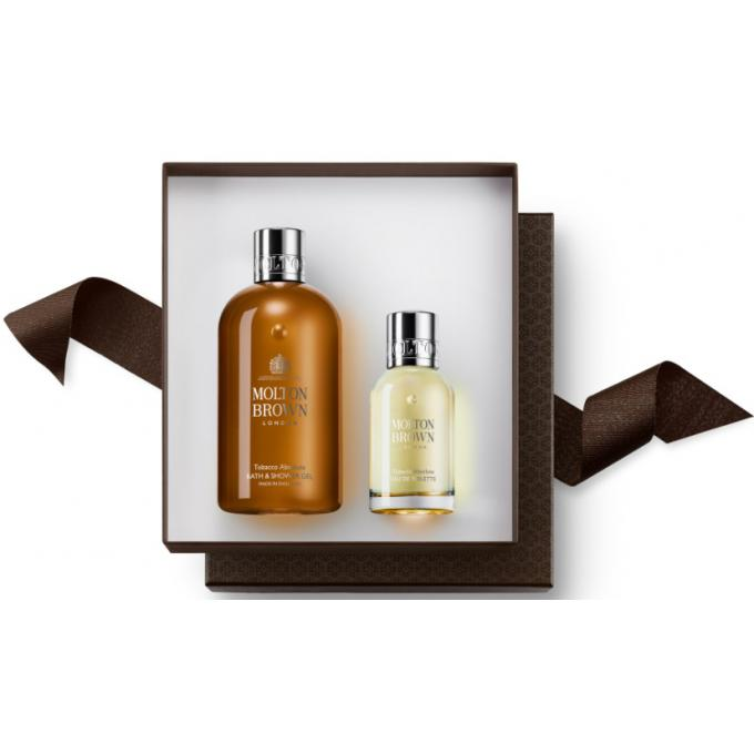 Molton Brown TOBACCO ABSOLUTE FRAGRANCE LAYERING GIFT SET (300ml BW & 50ml EDT) 10