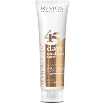 Revlon Color Care 45 Days Shampoing et Soin Golden Blondes - Couleur Blond Chaud 10